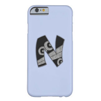 art deco monogram - N Barely There iPhone 6 Case