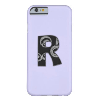art deco monogram - R Barely There iPhone 6 Case