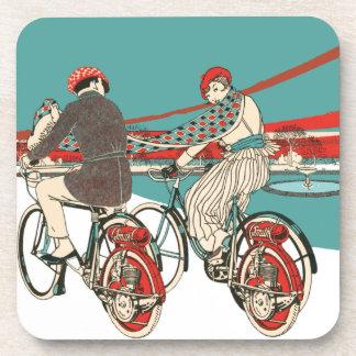 Art Deco Motorcycling Drink Coasters