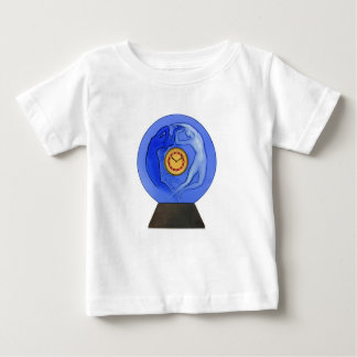 Art Deco Night & Day glass clock. Baby T-Shirt