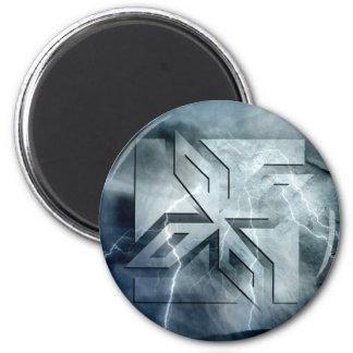 Art Deco Ninja Star Icon lightning overlay Refrigerator Magnets
