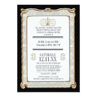 Art Deco Nouveau Gatsby Style Gold n Lace Look Card