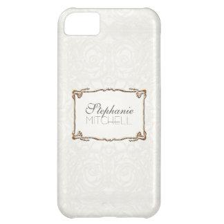 Art Deco Nouveau Lace n Gold Look Personalized iPhone 5C Case