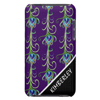 Art Deco Nouveau Style Peacock Feathers Swirl Barely There iPod Cases