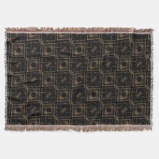 Black art deco throw blankets - Deco vintage chic ...