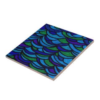 Art Deco Ocean Waves Tile