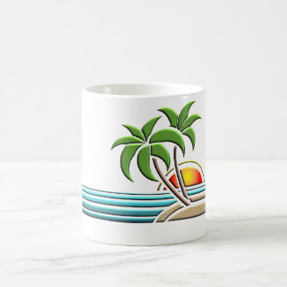 Art Deco palm tree mug