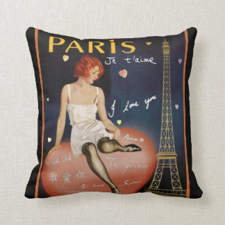 Art Deco Paris Throw Pillow