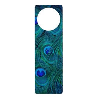 Art Deco  Parisian Teal Green Peacock Feather Door Hanger