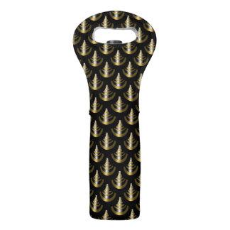 Art Deco Pattern | Classy Gold & Black Wine Bag