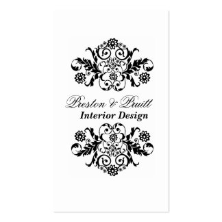 Art Deco Pattern  Consultant Black White Royal Pack Of Standard Business Cards