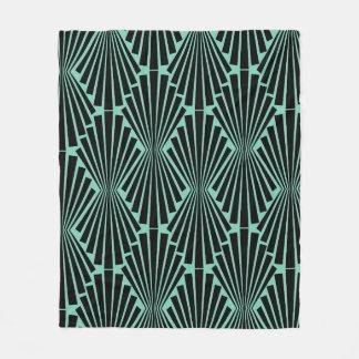 Art Deco Pattern Fleece Blanket