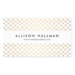 Art Deco Pattern in Gold Pack Of Standard Business Cards