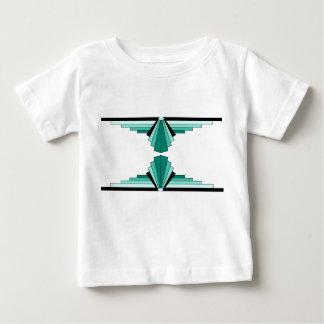 Art Deco Pattern in Green Baby T-Shirt