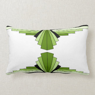 Art Deco Pattern in Greens2 Lumbar Cushion