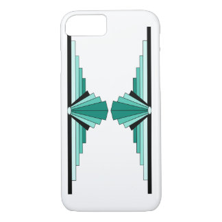 Art Deco Pattern in Greens iPhone 7 Case