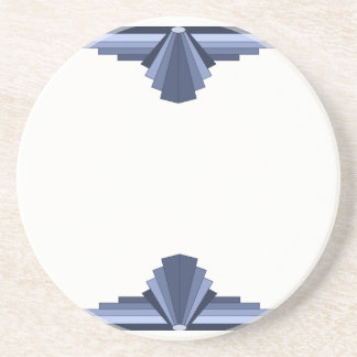 Art Deco Pattern in Grey-Blues Drink Coaster