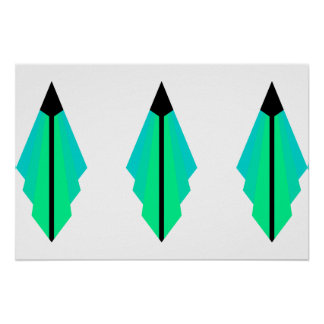 Art Deco Pattern in Limes Poster