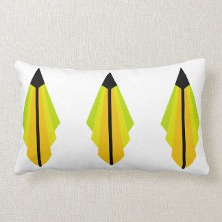 Art Deco Pattern in Orange and Lemon Lumbar Cushion