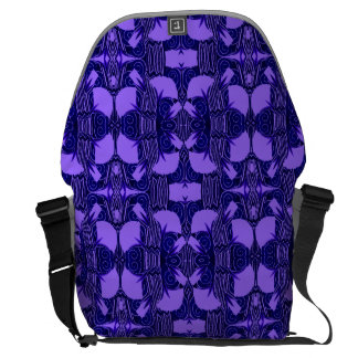 Art Deco Pattern in Purple and Dark Blue Courier Bags