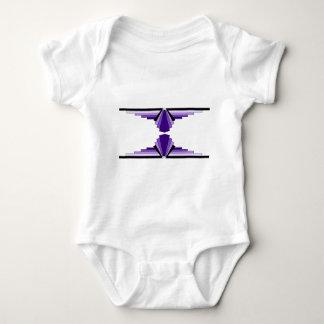 Art Deco Pattern in Purples Baby Bodysuit