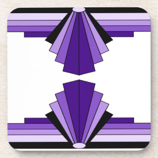 Art Deco Pattern in Purples Coasters