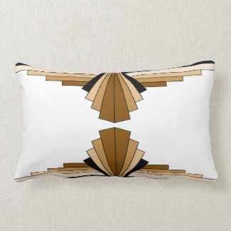 Art Deco Pattern in Tans Lumbar Cushion