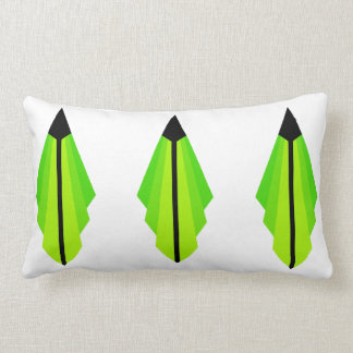 Art Deco Pattern in Yellow and Lime Lumbar Cushion