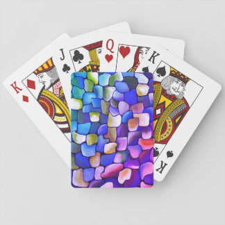 Art Deco pattern - rainbow abstract Playing Cards