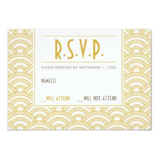 Art Deco Pattern Response Card 9 Cm X 13 Cm Invitation Card