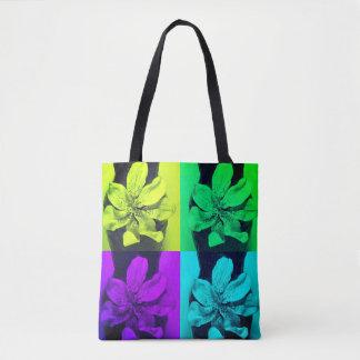 Art Deco pattern - urban flowers Tote Bag