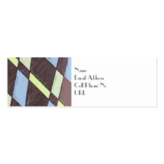 Art Deco Patterned Profile Card Pack Of Skinny Business Cards
