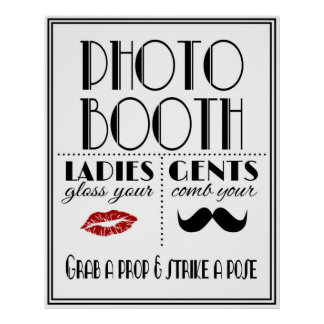 Art Deco PHOTO BOOTH sign Poster