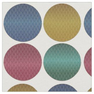 Art Deco Polka Dots Fabric