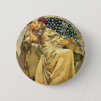 Art Deco Princess 6 Cm Round Badge