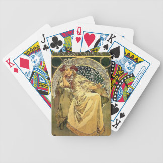 Art Deco Princess Bicycle Playing Cards