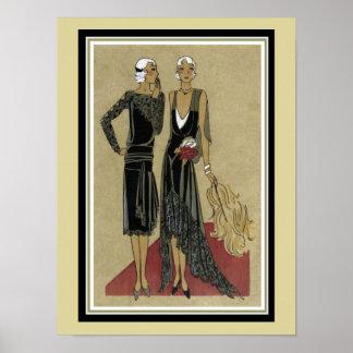 "Art Deco Print ""Red Carpet""  12 x 16 Poster"