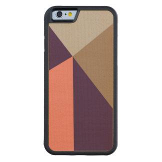 Art Deco Purple & Peach Carved Maple iPhone 6 Bumper Case