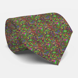 art deco, rainbow colors tie