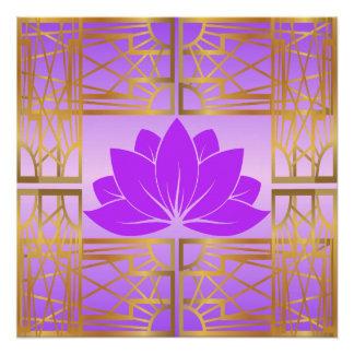 Art Deco Retro Lotus (violet)