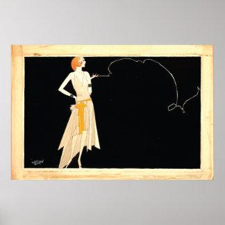 Art Deco ~ Roaring 20s Flapper Girl Poster