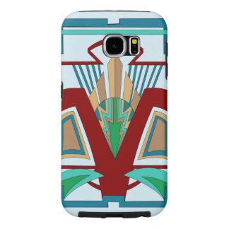 Art Deco Samsung Galaxy 6 Case (Pale Blue) Samsung Galaxy S6 Cases