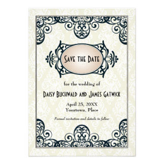 Art Deco Save the Date Personalized Announcements