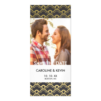 Art Deco Save the Date | Scalloped Shells Magnetic Invitations