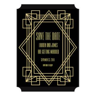 Art Deco Save the date Wedding invitation