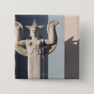 Art Deco Sculpture at the State Fair of Texas 15 Cm Square Badge