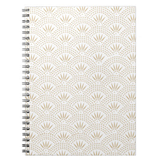 Art Deco Seigaiha Wave Pattern Notebooks