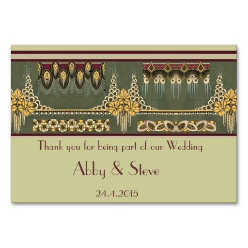 Art Deco Series: Wedding Stationary, Table Card