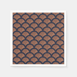 Art Deco Shell Pattern Copper Paper Napkins Disposable Napkin