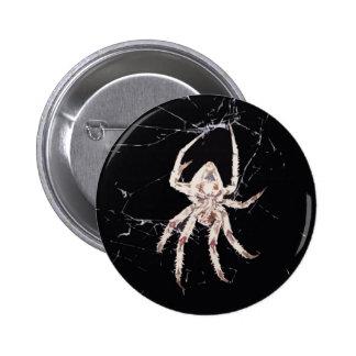 art deco spider pinback button